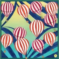 Mantero 1902 Air Balloon Silk ScarfGreen