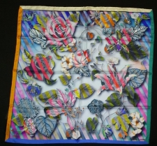 Christian Lacroix CineticRose Scarf Grey