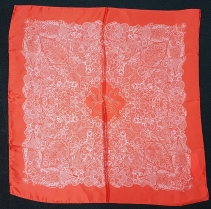 Laura Biagiotti Lace Red Scarf