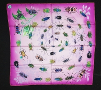 Mantero Insectio Pink Silk Scarf