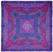 Echo Holiday Paisley Silk Scarf Purple