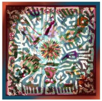 Christian Lacroix World Tribe Scarf Turq