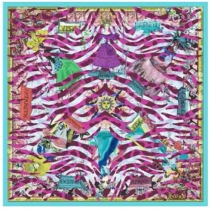 Christian Lacroix Tiger World Scarf Fuch