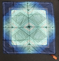 Missoni Blue Aqua Silk Scarf