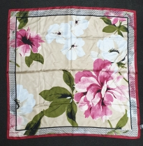 Vince Camuto Scarf Beige Pink Flower