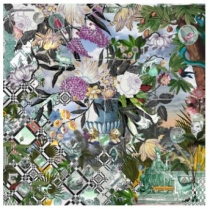 Christian Lacroix Faience Scarf Green